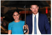 'It's good to be home,' says Markle as she finds her voice in US