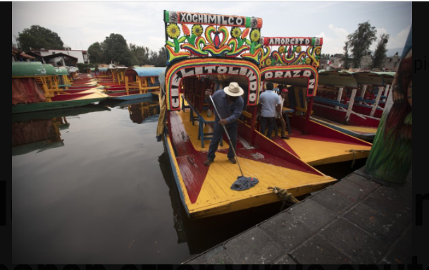 Mexico's famous floating gardens reopen after virus shutdown