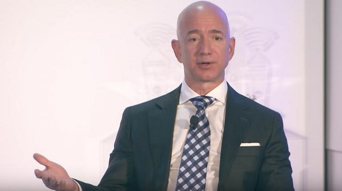 Jeff Bezos becomes first person worth $200 billion after sharp rally in US tech stocks