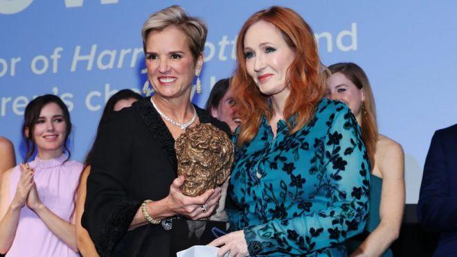 JK Rowling returns award after Kerry Kennedy criticism