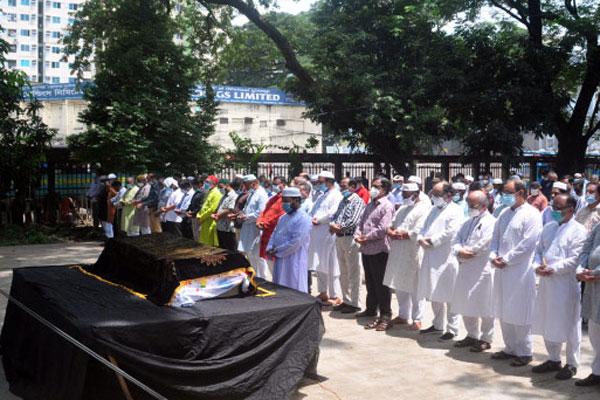 Namaj-e-janaza of Rahat Khan held at Jatiya Press Club
