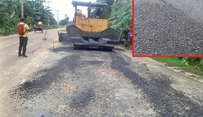Low-quality bitumen used for road repair