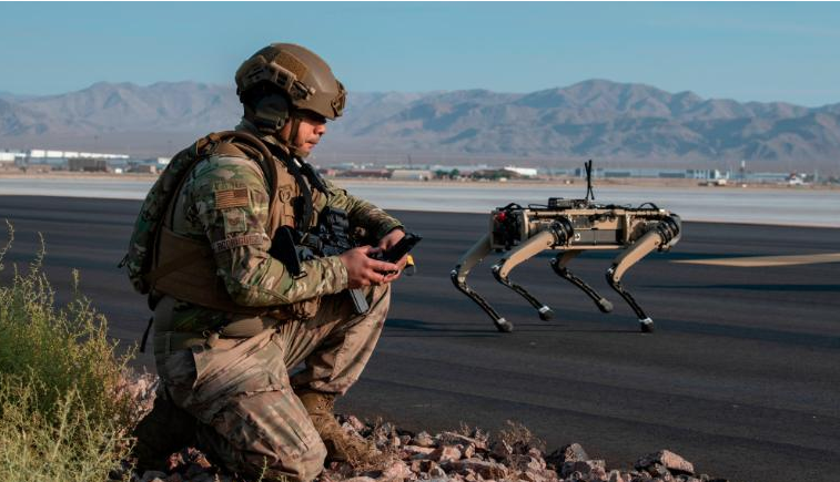 Robot dogs join US Air Force exercise giving glimpse at potential battlefield