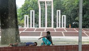 Central Shaheed Minar in the capital virtually turns into a safe haven for vagabonds