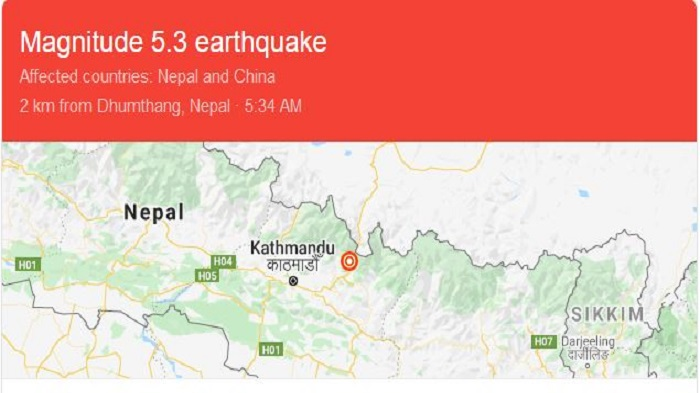 Nepal wakes up to 6.0 magnitude earthquake, no damage reported