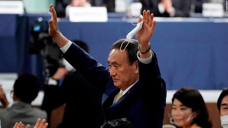 Yoshihide Suga elected Japan's new prime minister
