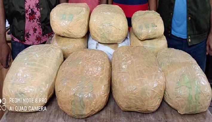 2 drug traders held with 20kg hemp in city