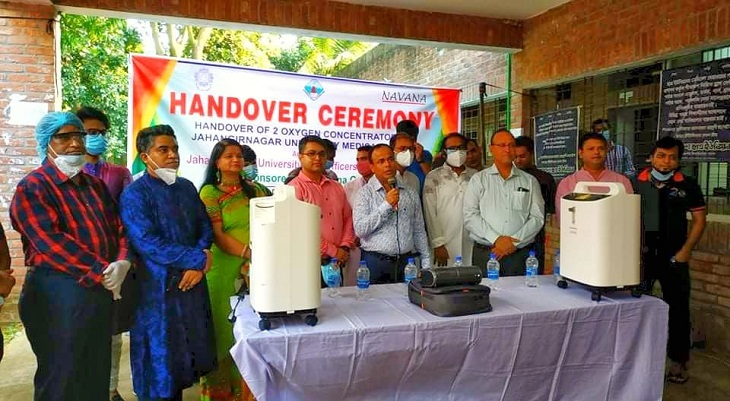 JU BCS Officers' Forum provides equipment to JU medical centre