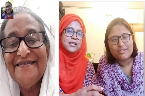 PM fulfills Raya's desire by making a video call to her