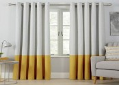 Curtains that resemble giant floor-to-ceiling cigarettes