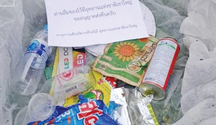 Thai national park mails trash back to tourists