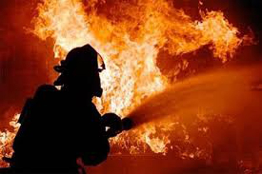 Fire breaks out at multi-storey building in Banani