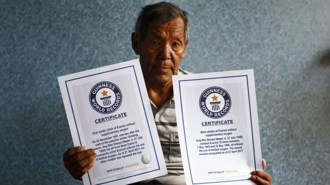 Nepalese Ang Rita Sherpa: Everest record-breaker dies aged 72