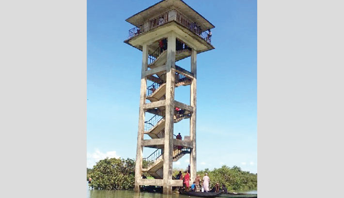 Ratargul watchtower made off-limits to tourists