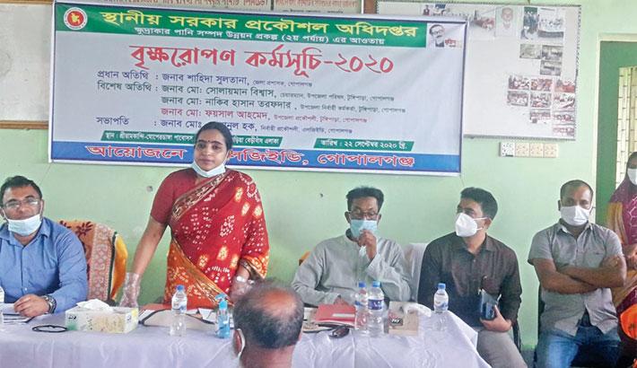 Inauguration of a tree plantation campaign