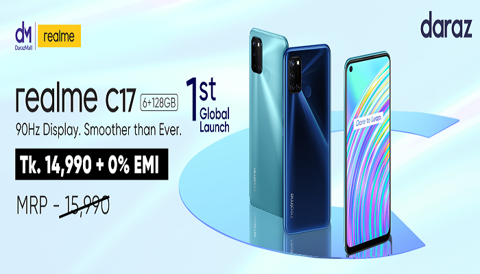 Realme C17 launched in Daraz Bangladesh globally for the first time