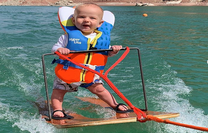 6-month-old becomes youngest person to go water skiing (watch)
