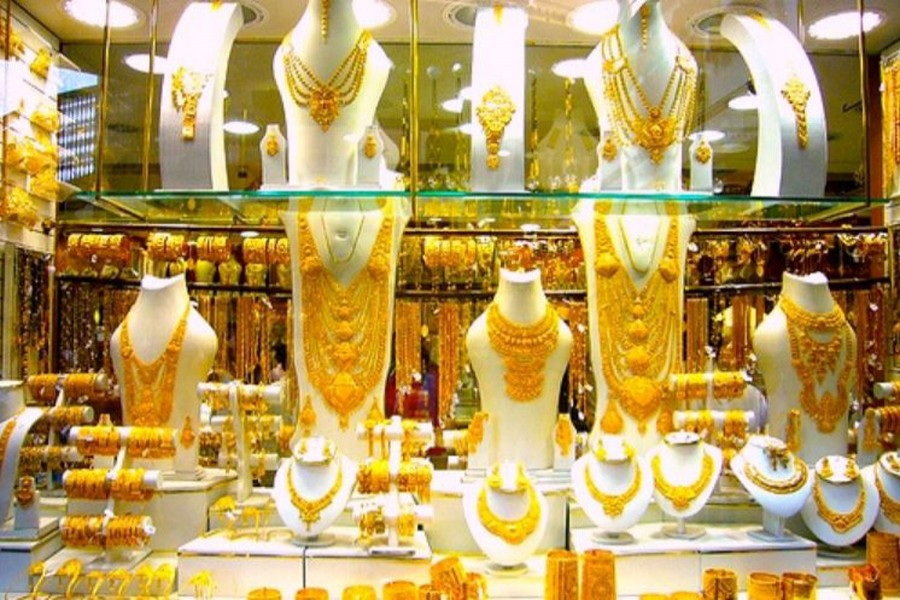 Gold prices fall by Tk 2,449 per bhori