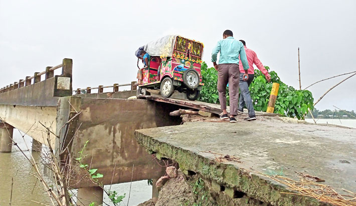 Jharkata bridge has long been lying disconnect from its approach road