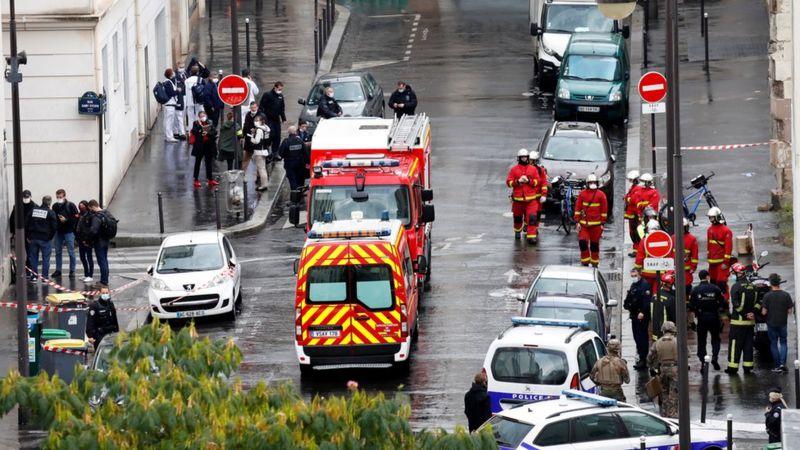 Two hurt in stabbing near former Charlie Hebdo office in Paris