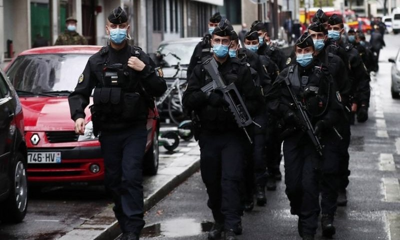 Paris attack: Stabbing near Charlie Hebdo office 'an act of terror'