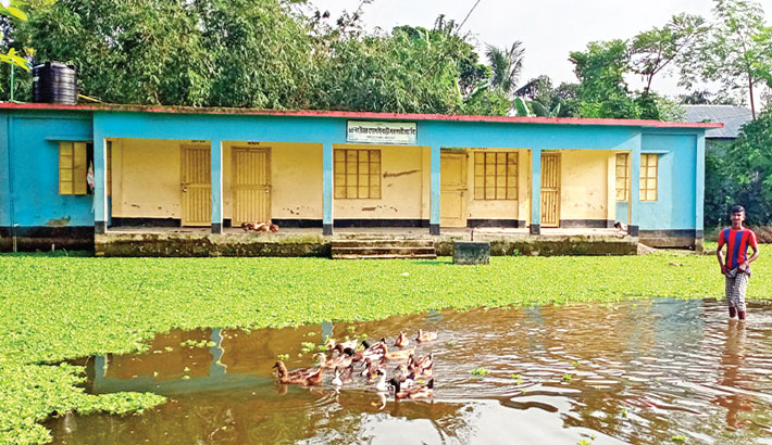 School ground under water for over nine months in Bogura