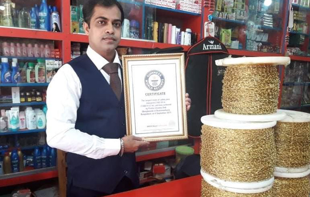 Bangladesh's Partha writes name in Guinness Book