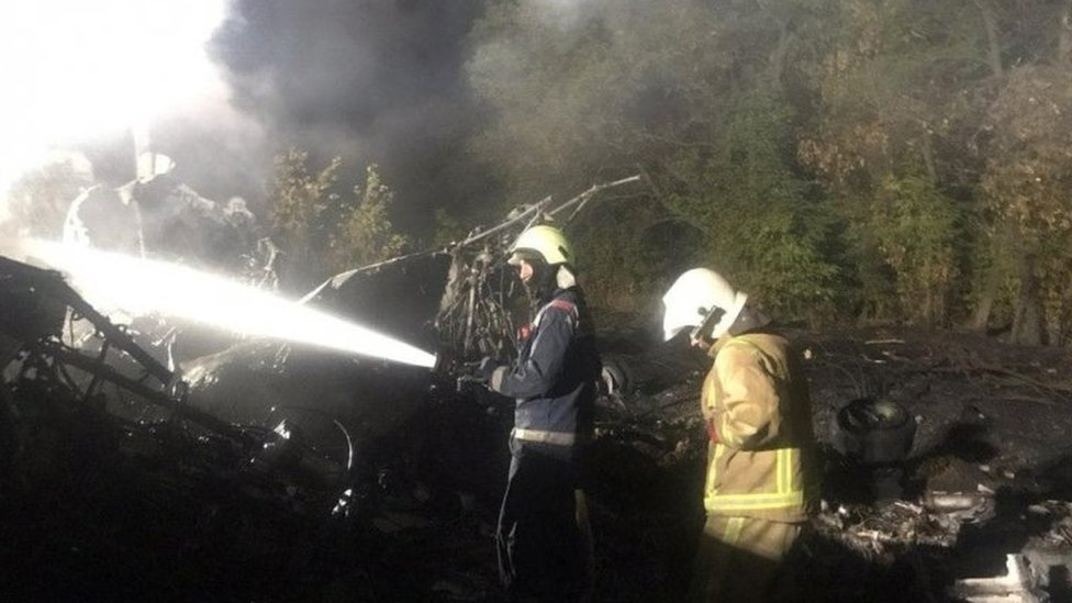 Cadets among 22 dead in Ukraine military plane crash