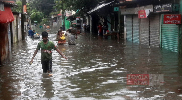 Rangpur residents suffer as roads, homes get inundated after record rain