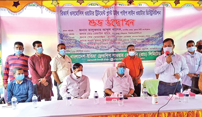 Rampal PP provides drinking water to locals: KCC Mayor