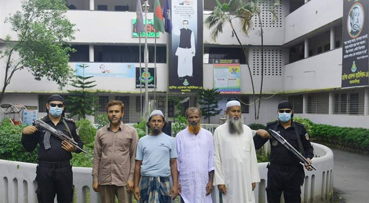 4 JMB men held in Mymensingh