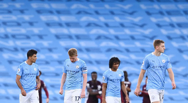 Vardy treble stuns Man City as Leicester run riot