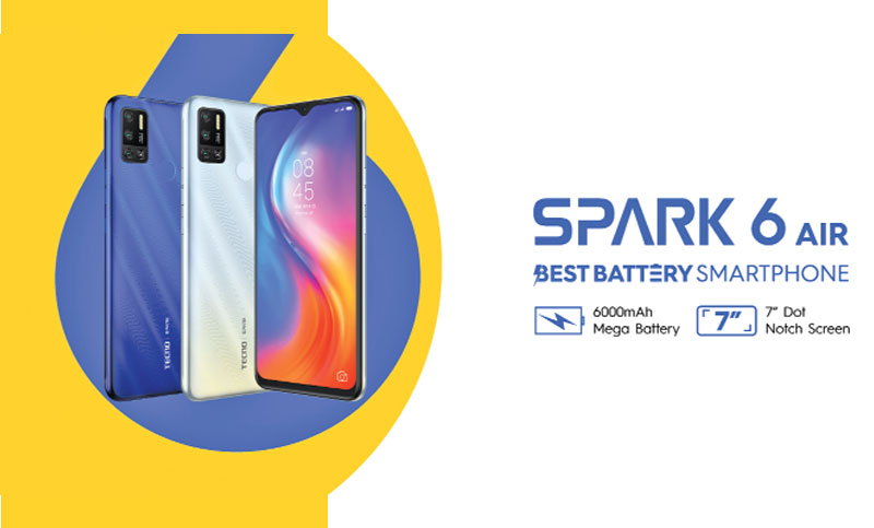 Tecno Spark 6 Air with 6000 mAh battery hits local mkt