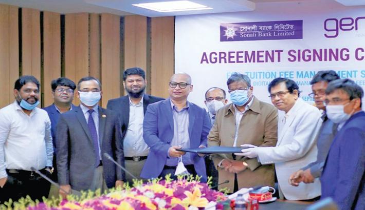 Sonali Bank, Genex Infosys ink agreement