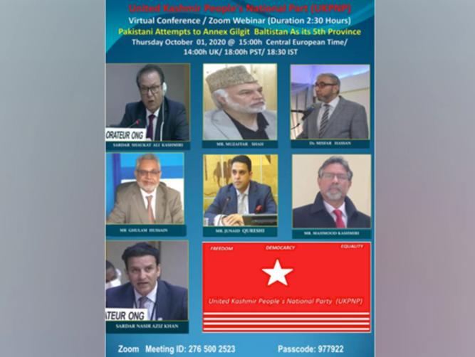 UKPNP to organise webinar on Pak's arbitrary plan to annex Gilgit-Balitistan Thursday