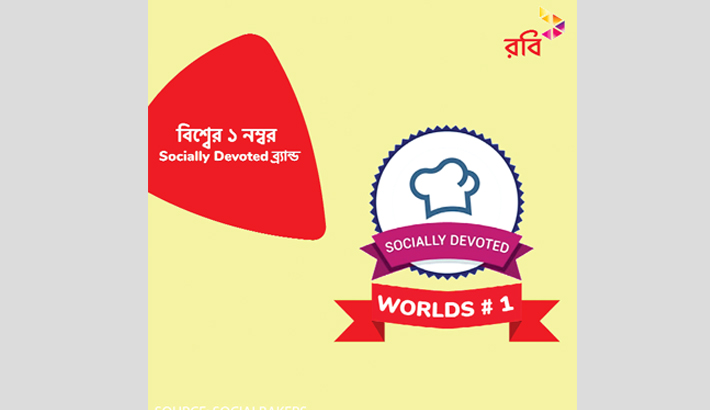 Robi recognised as world's best socially devoted brand