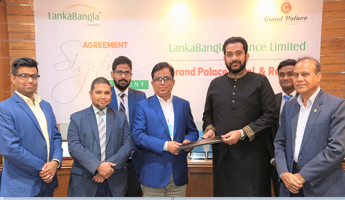 MOU signed between LankaBangla Finance and Grand Palace Hotel & Resort