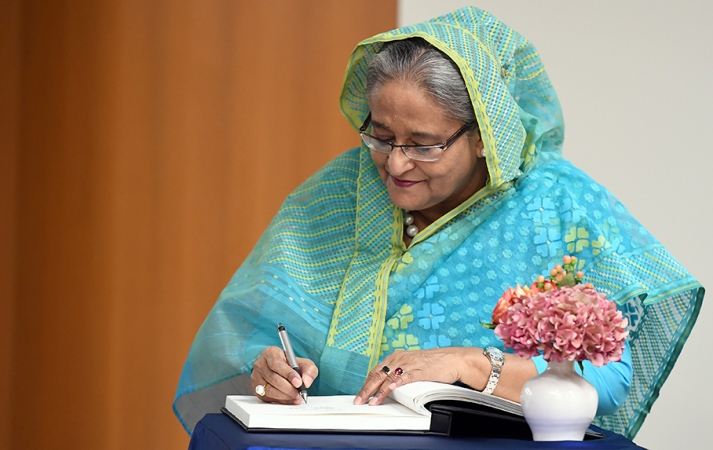 Developing newspaper reading habit: Sheikh Hasina revisits memory lane