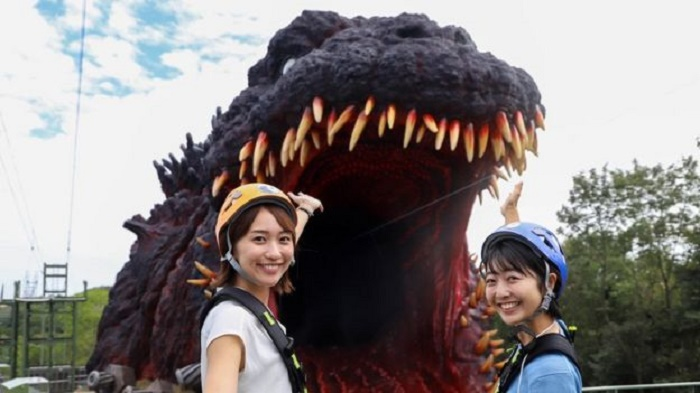 Japanese theme park unveils 'life-size' Godzilla attraction