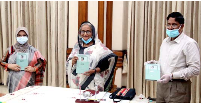 PM unveils cover of book 'Renu Theke Bangamata'
