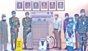 Design Director of 'KC' Kawsar Chowdhury donates some high-tech equipment