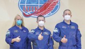 New crew reaches  ISS in record time