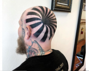 Man's 'insane optical illusion' tattoo looks like giant hole in his head