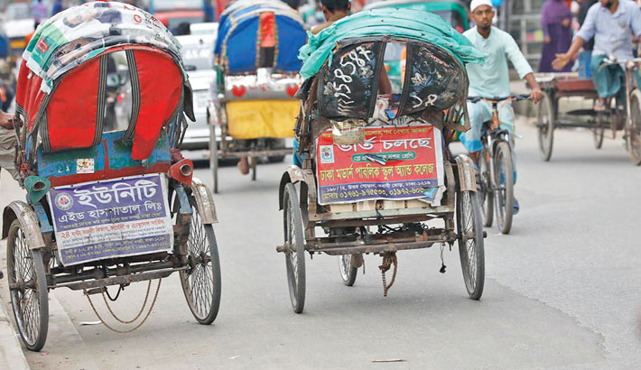 Battery-run rickshaws on city roads despite ban