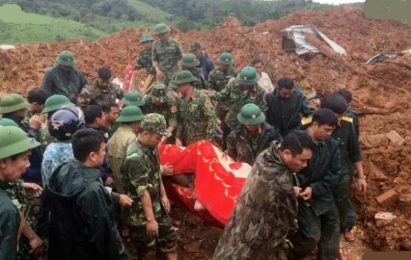 22 military personnel found dead in landslide in central Vietnam