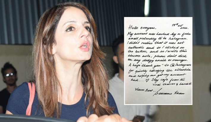Sussanne Khan reveals her Instagram account was hacked by a fake email