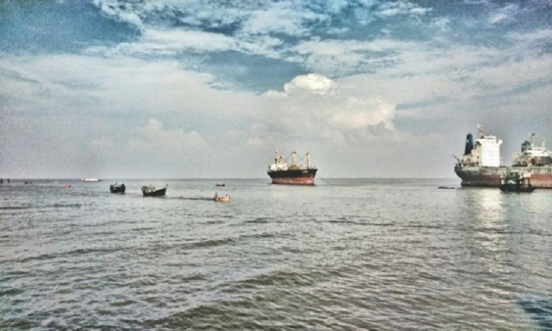 Lighter vessel catches fire in Bay of Bengal