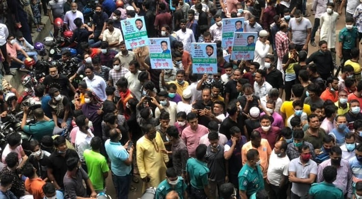 Samrat's supporters stage protest demanding his release
