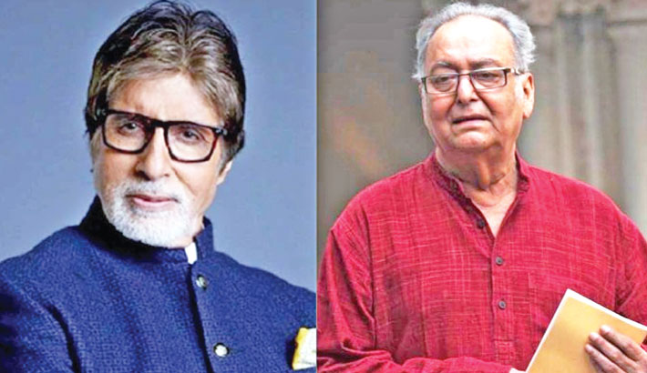 Amitabh enquires about the health condition of Soumitra