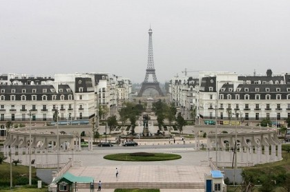 Chinese town built to look just like Paris - complete with a fake Eiffel Tower